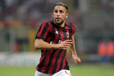 MILAN, ITALY - AUGUST 03:  Ricardo Rodriguez of AC Milan looks on during the UEFA Europa League Third Qualifying Round Second Leg match between AC Milan and CSU Craiova at Stadio Giuseppe Meazza on August 3, 2017 in Milan, Italy.  (Photo by Emilio Andreoli/Getty Images)