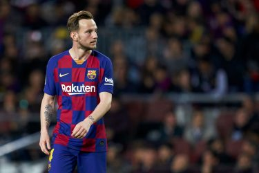 BARCELONA, SPAIN - FEBRUARY 02: Ivan Rakitic of FC Barcelona looks on during the La Liga match between FC Barcelona and Levante UD at Camp Nou on February 02, 2020 in Barcelona, Spain. (Photo by Quality Sport Images/Getty Images)