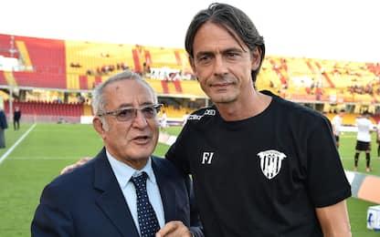 Benevento, Vigorito annuncia il rinnovo di Inzaghi