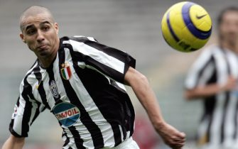 Turin, ITALY:  (FILES0 - Picture taken 06 November 2005 of Juventus David Trezeguet during Serie A football match against Livorno at Turin's Delle Alpi Stadium. France striker David Trezeguet will play his first game with Juventus, 16 September 2006,  after they were relegated to Serie B for their part in a match-fixing scandal.   AFP PHOTO / Filippo MONTEFORTE  (Photo credit should read FILIPPO MONTEFORTE/AFP via Getty Images)
