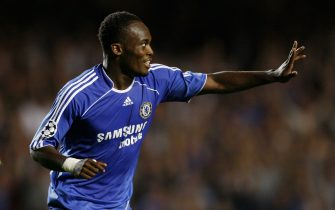 LONDON - SEPTEMBER 12:  Michael Essien of Chelsea celebrates after scoring the opening goal during the UEFA Champions League Group A match between Chelsea and Werder Bremen at Stamford Bridge on September 12, 2006 in London, England.  (Photo by Shaun Botterill/Getty Images)