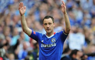 LONDON, ENGLAND - MAY 15:  John Terry of Chelsea salutes the fans following his team's victory at the end of the FA Cup sponsored by E.ON Final match between Chelsea and Portsmouth at Wembley Stadium on May 15, 2010 in London, England.  (Photo by Clive Mason/Getty Images)