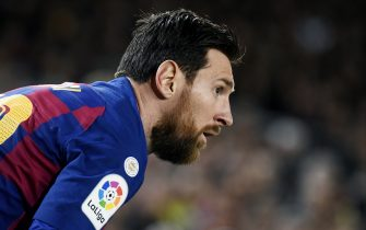 Lionel Messi of FC Barcelona  during the La Liga match, date 27, between FC Barcelona and Real Sociedad at Camp Nou Stadium on March 7, 2020 in Barcelona, Spain.