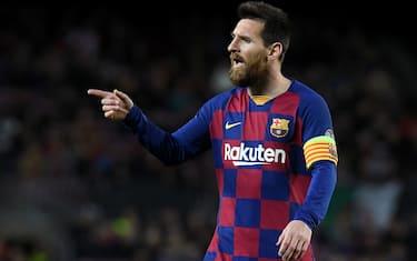 Lionel Messi of FC Barcelona  during the match FC Barcelona v Slavia Praga, of UEFA Champions League, 2019/2020 season, date 4. Camp Nou Stadium. Barcelona, Spain, 05 Nov 2019.