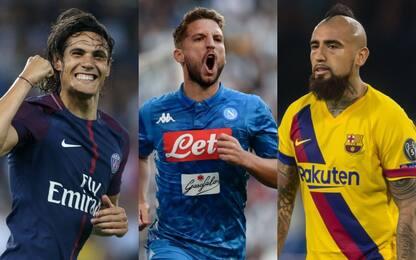 L'Inter cerca esperienza: Cavani, Mertens e Vidal