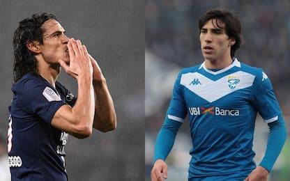 Tra Cavani e Tonali: l'Inter corre sul mercato