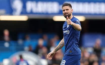 Giroud-Chelsea, ufficiale il rinnovo fino al 2021