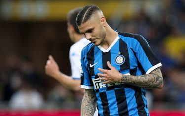 FC Inter's forward Mauro Icardi reacts during the Italian Serie A soccer match between  FC Inter and  Empoli at Giuseppe Meazza Stadium in Milan, Italy, 26 May 2019. ANSA / Roberto Bregani