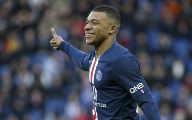 PARIS, FRANCE - FEBRUARY 29: Kylian Mbappe of PSG during the Ligue 1 match between Paris Saint-Germain (PSG) and Dijon FCO at Parc des Princes stadium on February 29, 2020 in Paris, France. (Photo by Jean Catuffe/Getty Images)