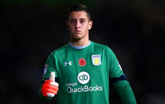 lBRIGHTON, ENGLAND - NOVEMBER 18:  Pierluigi Gollini of Aston Villa gives a thumbs up during the Sky Bet Championship match between Brighton & Hove Albion and Aston Villa at Amex Stadium on November 18, 2016 in Brighton, England.  (Photo by Dan Istitene/Getty Images)