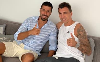"""Mandzukic ritrova Khedira: """"Che piacere amico mio"""""""