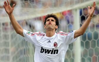 20090531-FIRENZE-SPO-FIORENTINA-MILAN;Il giocatore del milan, Kaka, questo pomeriggio allo stadio Artemio FranchiANSA/MAURIZIO DEGL' INNOCENTI