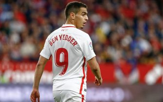 Wissam Ben Yedder of Sevilla FC during the match between Sevilla FC vs Deportivo Alaves of LaLiga, date 17, 2018-2019 season. Ramon Sanchez-Pizjuan. Sevilla, Spain - 4 ABR 2019.