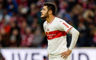 MUNICH, GERMANY - JANUARY 27: Ozan Kabak of VfB Stuttgart looks on during the Bundesliga match between FC Bayern Muenchen and VfB Stuttgart at Allianz Arena on January 27, 2019 in Munich, Germany. (Photo by TF-Images/TF-Images via Getty Images)