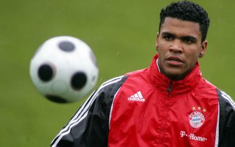 MUNICH, GERMANY - JANUARY 07:  Breno, new recruit of FC Bayern Munich Soccer Club takes part at a first training session at Saebener Strasse Training ground on January 7, 2008 in Munich, Germany. The 18 years old Brazilian defender comes from Brazilian club FC Sao Paulo.  (Photo by Johannes Simon/Bongarts/Getty Images)