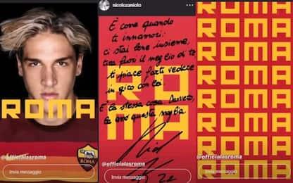 """Zaniolo, messaggio alla Roma: """"Amo questa maglia"""""""