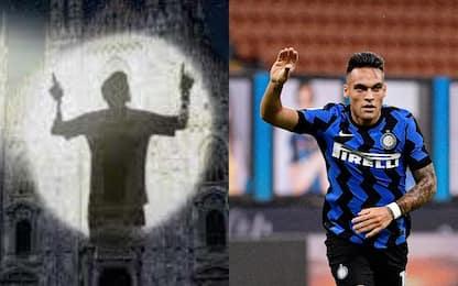 L'immagine di Messi sul Duomo ha ispirato Lautaro