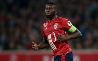 LILLE, FRANCE - OCTOBER 29: Ibrahim Amadou of Lille during the French League 1  match between Lille v Olympique Marseille at the Stade Pierre Mauroy on October 29, 2017 in Lille France (Photo by Laurens Lindhout/Soccrates/Getty Images)
