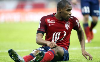 LILLE, FRANCE - DECEMBER 2: Djibril Sidibe of Lille looks on during the French Ligue 1 match between Lille OSC (LOSC) and AS Saint-Etienne (ASSE) at Stade Pierre Mauroy on December 2, 2015 in Lille, France. (Photo by Jean Catuffe/Getty Images)