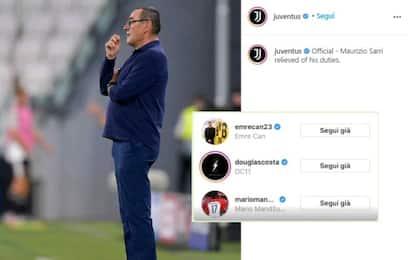 """Sarri, i """"like"""" di alcuni giocatori dopo l'esonero"""
