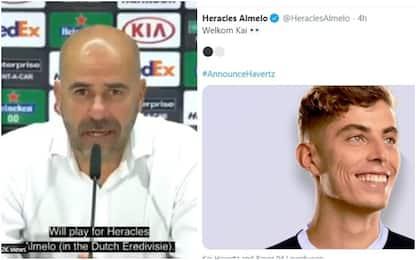 "Gag Bosz: ""Havertz all'Heracles"". E il club twitta"