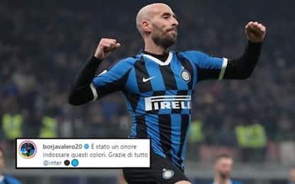 """Borja saluta l'Inter: """"Un onore questi colori"""""""