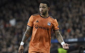Memphis Depay of Olympique Lyon during the match between FC Barcelona vs Olympique Lyon of UEFA Champions League 2018-2019, round of 16, second leg, played at the Camp Nou Stadium. Barcelona, Spain, 13 MAR 2019.