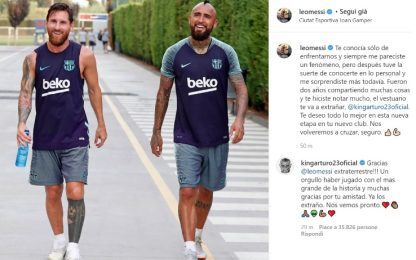 "Messi saluta Vidal: ""Torneremo a incrociarci"""