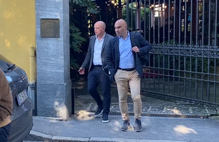 I dirigenti del Tottenham a Milano