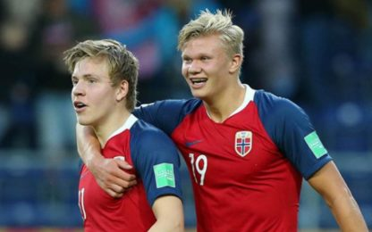 "Gol, dribbling e lo ""sponsor"" Haaland: chi è Hauge"