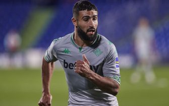 Nabil Fekir of Real Betis  during the La Liga match between Getafe CF and Real Betis played at Coliseum Alfonso Perez Stadium on September 29, 2020 in Getafe, Spain. (Photo by Ruben Albarran/PRESSINPHOTO)
