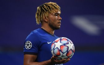 epa08760472 Reece James of Chelsea in action during the UEFA Champions League group E soccer match between Chelsea FC and Sevilla FC in London, Britain, 20 October 2020.  EPA/Mike Hewitt / POOL