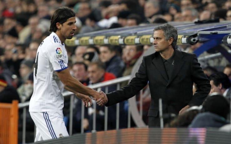 Khedira e Mourinho ai tempi del Real Madrid