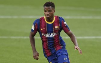 Ansu Fati of FC Barcelona during the La Liga match between FC Barcelona and Real Madrid played at Camp Nou Stadium on October 24, 2020 in Barcelona, Spain. (Photo by PRESSINPHOTO)