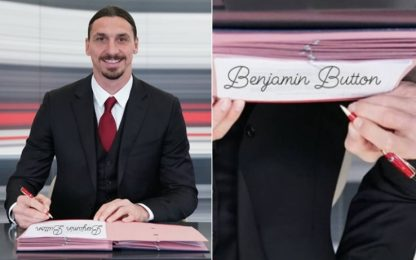 """Ibra firma il rinnovo... come """"Benjamin Button""""!"""