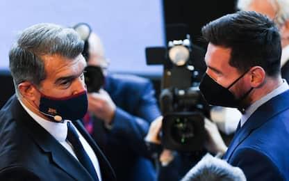 """Laporta: """"Rinnovo Messi? Trattativa avanza bene"""""""