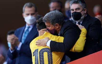 """Laporta: """"Messi vuole restare, stiamo parlando"""""""