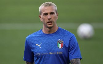 Bologna, Italy, 4th June 2021. Federico Bernardeschi of Italy during the warm up prior to the International Football Friendly match at Stadio Dall'Ara, Bologna. Picture credit should read: Jonathan Moscrop / Sportimage via PA Images