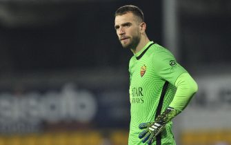 Pau Lopez player of Roma, During the match of the Italian SerieA championship between Benevento vs Roma final result 0-0, match played at the Ciro Vigorito stadium in Benevento. Italy, February 21, 2021. (Photo by Vincenzo Izzo/Sipa USA)