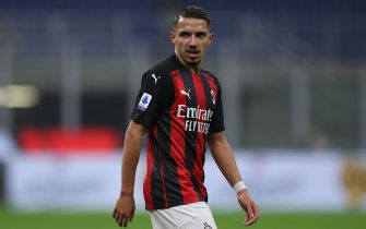 Ismael Bennacer of AC Milan during the Serie A match at Giuseppe Meazza, Milan. Picture date: 8th November 2020. Picture credit should read: Jonathan Moscrop/Sportimage via PA Images