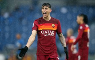 ROME, Italy - 10.01.2021: ROGER IBANEZ (ROMA) in action during  the Italian Serie A league 2020-2021 soccer match  between AS ROMA vs FC INTER , at Olympic stadium in Rome.