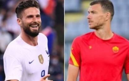 Il Milan non molla Giroud, c'è l'ipotesi Dzeko