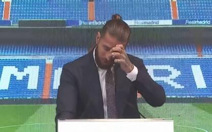 """Sergio Ramos in lacrime: """"Real, è un arrivederci"""""""