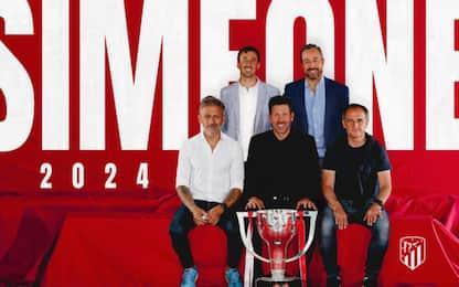 Simeone rinnova, è 3° coach più longevo d'Europa