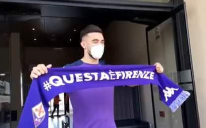 Nico Gonzalez a Firenze. Le prime immagini