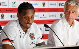 Pablo Rosario - Official presentation of OGC Nice recruits, Justin Kluivert, Calvin Stengs, Pablo Rosario and Jean-Clair Todibo at the OGC Nice Training and Training Center in the presence of Jean-Pierre Rivere, President of OGC Nice, and by Julien Fournier, Director of Football. Nice, France on July 27, 2021. Photo by Lionel Urman/ABACAPRESS.COM
