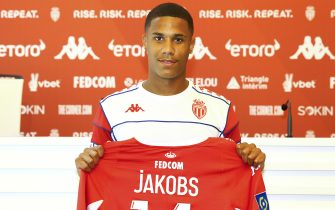 La Turbie, France - August 02, 2021: AS Monaco new german Player Ismail Jakobs for the 2021-22 Season, Press Conference and Training Session.