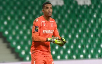 LAFONT ALBAN goalkeeper FC Nantes during the French L1 football match between Saint-Etienne (ASSE) and Nantes (FCN) on February 3, 2021 at the Geoffroy Guichard Stadium in Saint-Etienne.//ALLILIMOURAD_0914040/2102040930/Credit:ALLILI MOURAD/SIPA/2102040933