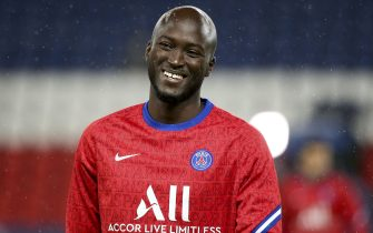 Danilo Pereira of PSG during the warm up before the UEFA Champions League, Group Stage, Group H football match between Paris Saint-Germain (PSG) and Manchester United (Man U) on October 20, 2020 at Parc des Princes stadium in Paris, France - Photo Jean Catuffe / DPPI / LM