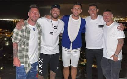 Messi, la foto con Neymar&Co: PSG il futuro?